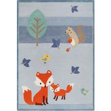 ESPRIT Kinderteppich E-FOX IN THE WOOD ESP-4371-03 blau 120x170