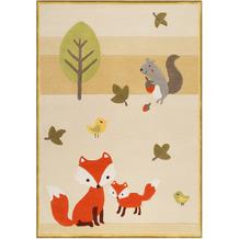 ESPRIT Kinderteppich E-FOX IN THE WOOD ESP-4371-04 beige 120x170