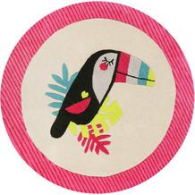 ESPRIT Kinderteppich E-TOUCAN ESP-4373-02 pink 100 rund