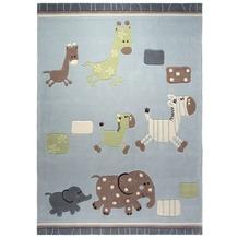 ESPRIT Kinder-Teppich Lucky Kinder-Teppich Zoo ESP-2842-02 blau 70 x 140 cm