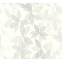 ESPRIT Vliestapete Cool Noon Tapete mit Blumen floral weiß grau 10,05 m x 0,53 m