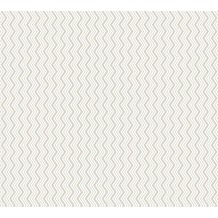 ESPRIT Vliestapete ECO Ökotapete PVC-frei grau metallic weiß 358184 10,05 m x 0,53 m