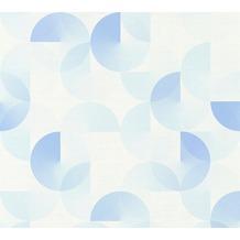 ESPRIT Vliestapete Morning Blush Tapete geometrisch grafisch blau 10,05 m x 0,53 m