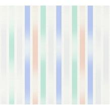 ESPRIT Vliestapete Morning Blush Tapete gestreift grafisch blau grün rosa 10,05 m x 0,53 m