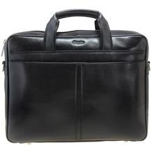 Esquire Business Aktenmappe Leder 37 cm Laptopfach black