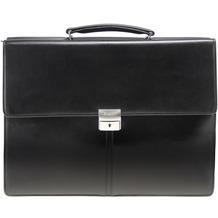 Esquire Aktentasche Leder 40 cm Laptopfach black