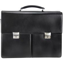 Esquire Aktentasche Leder 41 cm Laptopfach black