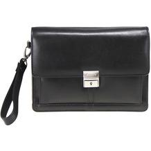 Esquire Business Handgelenkstasche Leder 23 cm black