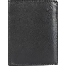 Esquire Eco Geldbörse Leder 9 cm schwarz