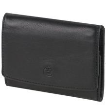 Esquire Logo Geldbörse I Leder 10 cm schwarz