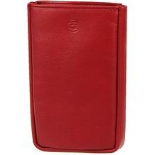 Esquire Logo Schlüsseletui Leder 8 cm rot