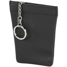 Esquire Logo Schlüsseletui Leder 9 cm schwarz