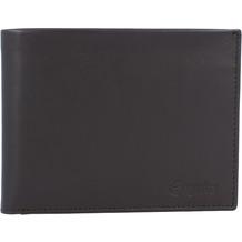 Esquire New Silk Geldbörse Leder 12 cm braun