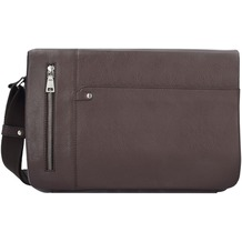 Esquire Sydney Messenger Leder 35 cm Laptopfach braun