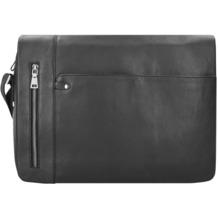 Esquire Sydney Messenger Leder 40 cm Laptopfach schwarz