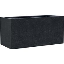 ESTERAS Pflanzgefäß Buren Black Set (3 Stück) 97/77/57 cm