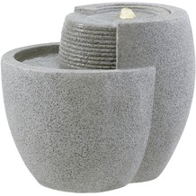 ESTERAS Zimmerbrunnen Comallo Stone Granite Grey (Outdoor geeignet) 48x40x40 cm