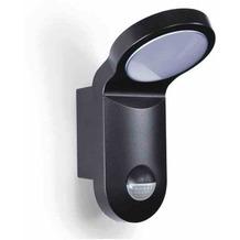 ESY-LUX AOL 100 LED 3K schwarz Automatikleuchte mit integriertem Bewegungsmelder 140°, 14 W, Lichtfarbe ca. 3000 K warmweiß, IP55