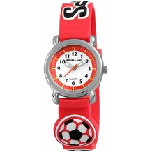 Excellanc Kinderuhr Fußball mit Silikonband - silber 407025000060