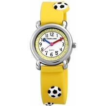 Excellanc Kinderuhr Fußball mit Silikonband - silber 407045000022