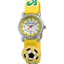 Excellanc Kinderuhr Fußball / Sport mit Silikonband - silber 407024000060