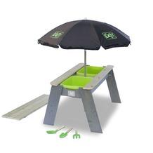 EXIT Aksent Sand- und Wassertisch mit Sonnenschirm und Gartenwerkzeugen