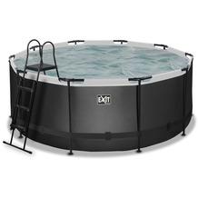 EXIT Black Leather Pool mit Sandfilterpumpe - schwarz ø360x122cm