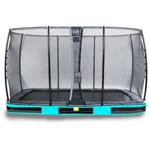 EXIT Elegant Inground-Trampolin 214x366cm mit Economy Sicherheitsnetz - blau