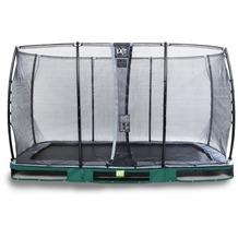 EXIT Elegant Inground-Trampolin 214x366cm mit Economy Sicherheitsnetz - grün
