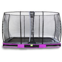EXIT Elegant Inground-Trampolin 214x366cm mit Economy Sicherheitsnetz - lila
