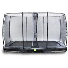 EXIT Elegant Inground-Trampolin 214x366cm mit Economy Sicherheitsnetz - schwarz