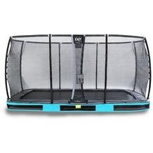 EXIT Elegant Inground-Trampolin 244x427cm mit Deluxe Sicherheitsnetz - blau