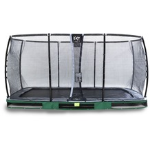 EXIT Elegant Inground-Trampolin 244x427cm mit Deluxe Sicherheitsnetz - grün