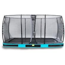 EXIT Elegant Inground-Trampolin 244x427cm mit Economy Sicherheitsnetz - blau