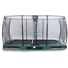 EXIT Elegant Inground-Trampolin 244x427cm mit Economy Sicherheitsnetz - grün