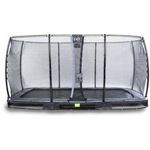 EXIT Elegant Inground-Trampolin 244x427cm mit Economy Sicherheitsnetz - schwarz