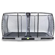 EXIT Elegant Premium Inground-Trampolin mit Deluxe Sicherheitsnetz - grau 244x427cm