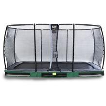 EXIT Elegant Premium Inground-Trampolin mit Deluxe Sicherheitsnetz - grün 244x427cm