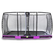 EXIT Elegant Premium Inground-Trampolin mit Deluxe Sicherheitsnetz - lila 244x427cm