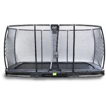 EXIT Elegant Premium Inground-Trampolin 244x427cm mit Deluxe Sicherheitsnetz - schwarz