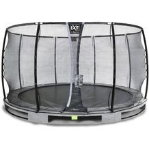 EXIT Elegant Premium Inground-Trampolin mit Deluxe Sicherheitsnetz - grau ø366cm