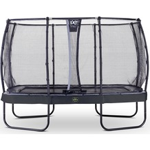 EXIT Elegant Premium Trampolin mit Deluxe Sicherheitsnetz - schwarz 214x366cm