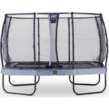 EXIT Elegant Premium Trampolin Rechteckig mit Sicherheitsnetz Deluxe Grau 214x366cm