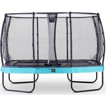 EXIT Elegant Premium Trampolin Rechteckig mit Sicherheitsnetz Deluxe Blau 214x366cm