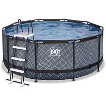 EXIT Stone Pool mit Sandfilterpumpe - grau ø360x122cm