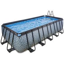 EXIT Stone Pool mit Sandfilterpumpe - grau 400x200x122cm