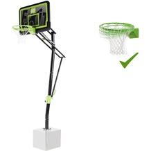 EXIT Galaxy Basketballkorb zur Bodenmontage mit Dunkring - Black Edition