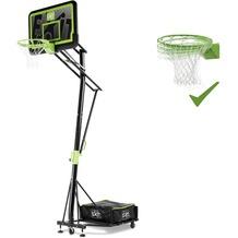 EXIT Galaxy versetzbarer Basketballkorb auf Rädern mit Dunkring - Black Edition