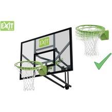 EXIT Galaxy Basketballkorb zur Wandmontage mit Dunkring - grün/schwarz