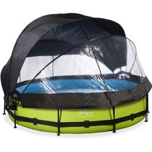 EXIT Lime Pool mit Abdeckung, Sonnensegel und Filterpumpe - grün ø360x76cm